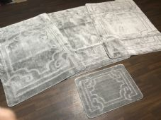ROMANY WASHABLES NEW DESIGNS SETS OF 4 MATS XLARGE SIZE 100X140CM GREY/SILVER